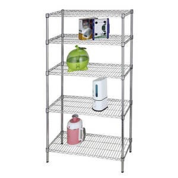 Adjustable Chrome Wire Shelving Metal Storage Rack for Garage / Warehouse #3 image