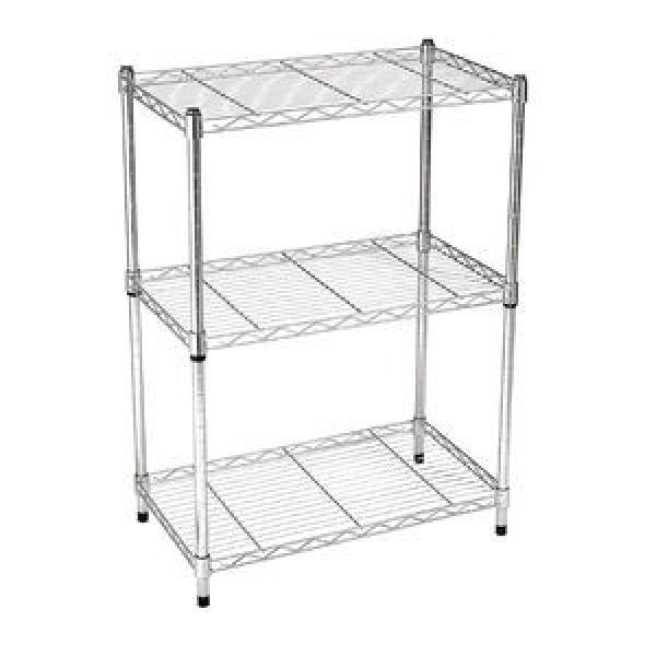 Adjustable Chrome Wire Shelving Metal Storage Rack for Garage / Warehouse #2 image