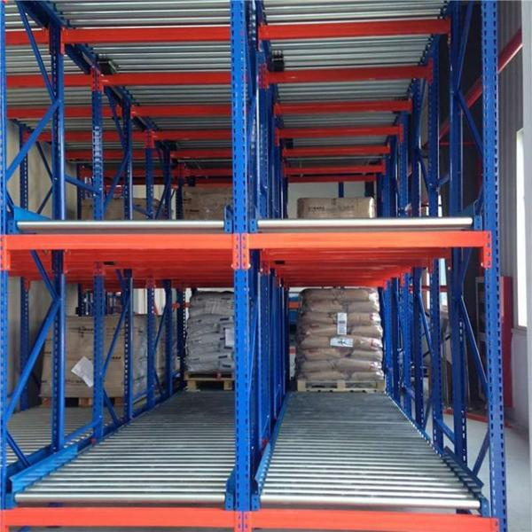 Warehouse Industrial Storage Steel Pallet Carton Gravity Flow Rack with Rollers #2 image