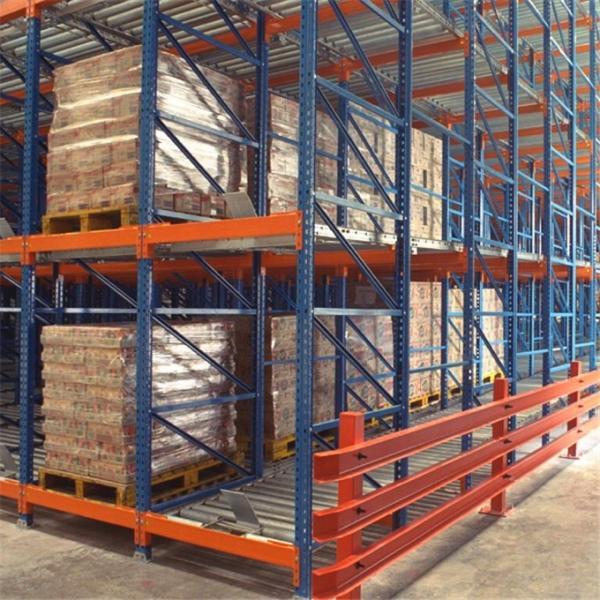 Warehouse Industrial Storage Steel Pallet Carton Gravity Flow Rack with Rollers #3 image